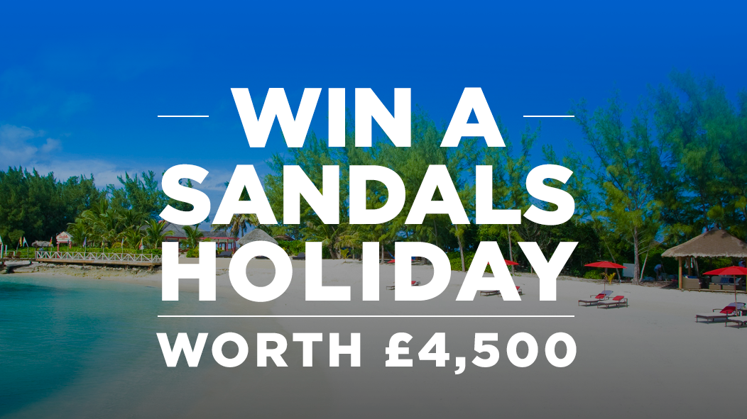 Win a Sandals Holiday - Worth £4,500