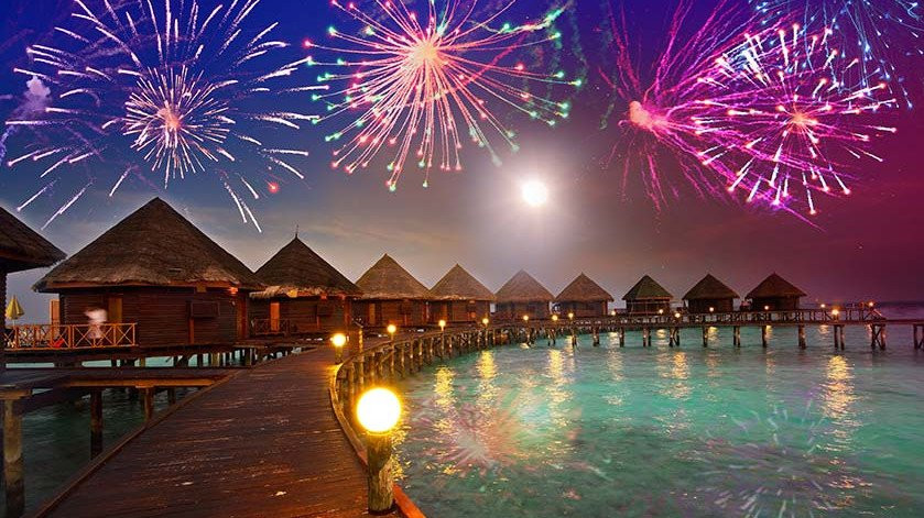 Fireworks in the Maldives