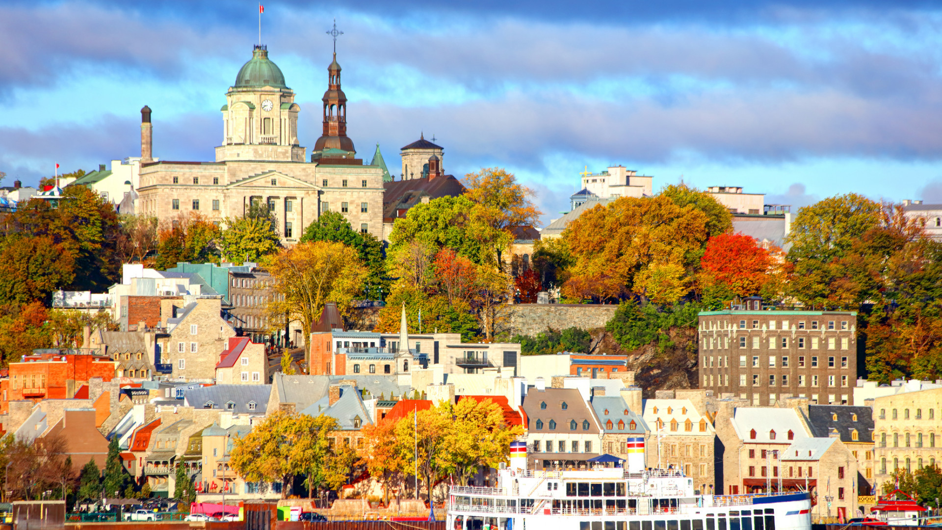 Québec  city in autumn
